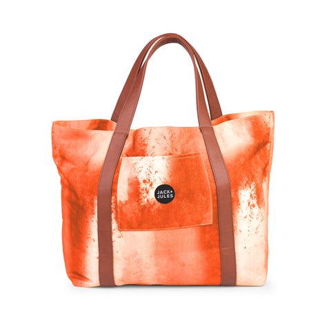All-rounder everyday tote bag in sunset orange