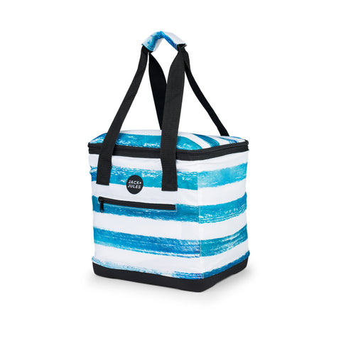 Lightweight essential insulated cooler bag in reef blue stripe