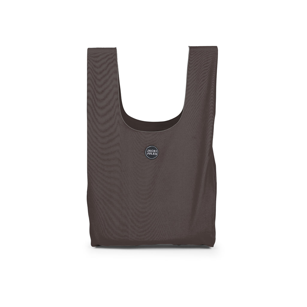 Reusable shopping market bag in charcoal grey