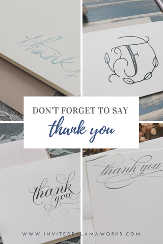Wedding Thank You Cards, Bridal Shower Thank You | Invited by LamaWorks