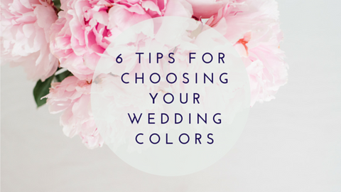 6 tips for choosing colors for your wedding stationery