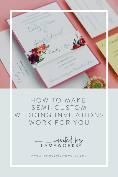 Semi Custom Wedding Invitations