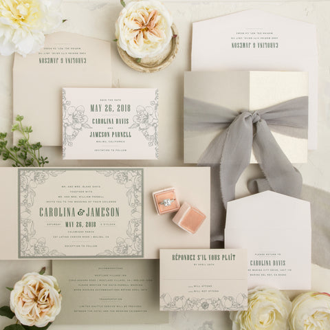 gate card invitations