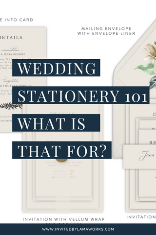 Parts of a wedding invitation - which pieces are which and why you need them