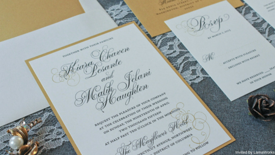 Kiara and Malik Invited by LamaWorks Wedding Invitation