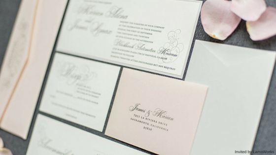 Marian and James Invited by LamaWorks Wedding Invitation