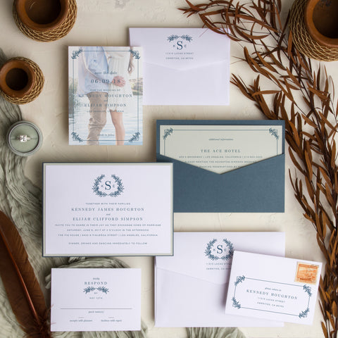 Pocket card invitations