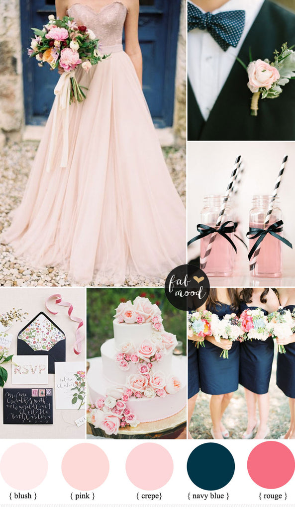 Navy And Blush Wedding.Hot Trend Blush Pink Wedding Inspiration
