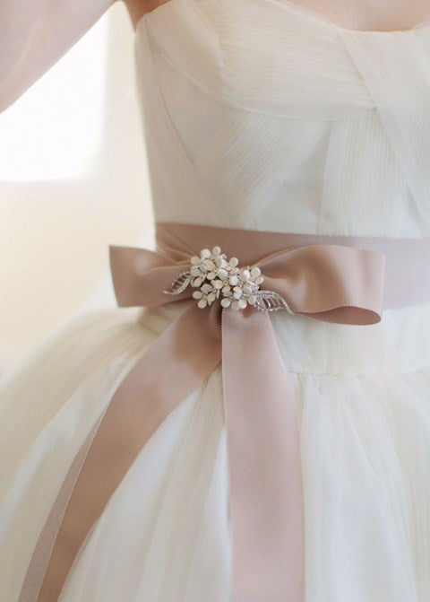 blush pink ribbon