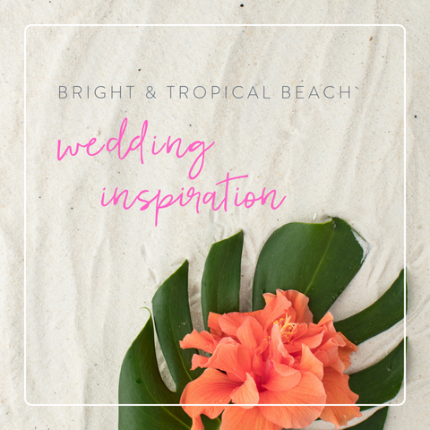 bright and tropical wedding inspiration