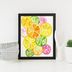 Citrus Watercolor Print by Shawna Clingerman
