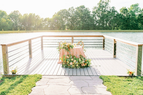 lake side wedding in Missouri