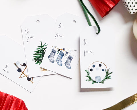 Scandinavian Holiday Gift Tag Set