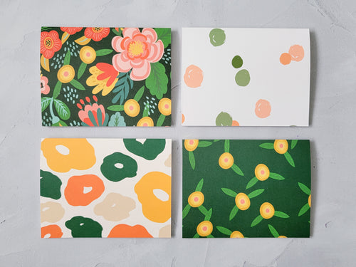 Happy Illustrated Floral Note Card Set