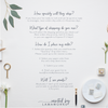 Anna and Paul | Escort Card | Place Card