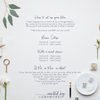 Allison | Escort Card | Place Card