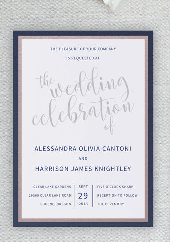 Alessandra & Harrison - flat invitation