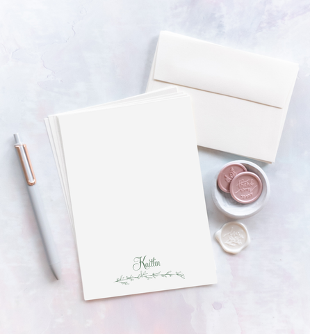 Personzalized Letter Writing Kit - Elegant Branch