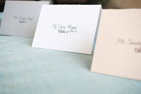 Jessica and Jeffrey | Escort Card | Place Card
