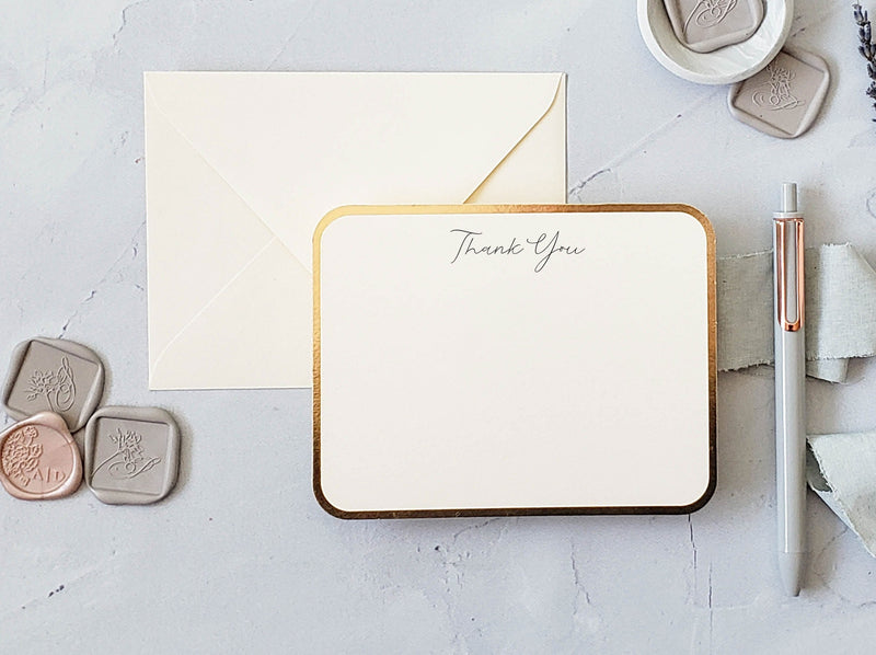 foil stamped thank you cards