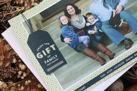 The Gift of Family Holiday Photo Card - Special Holiday Donation!!