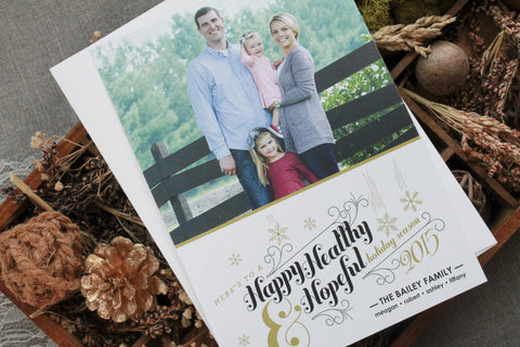 Healthy and Hopeful Holiday Photo Card - Special Holiday Donation!!