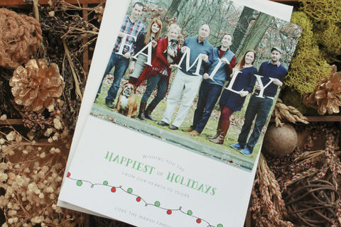 Festive Holiday Lights Holiday Photo Card - Special Holiday Donation!!
