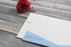 Hand Dip Dyed Cards - Ombre Stationery Set - Denim Note