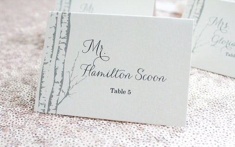 Simone and Oscar Script | Escort Card | Place Card