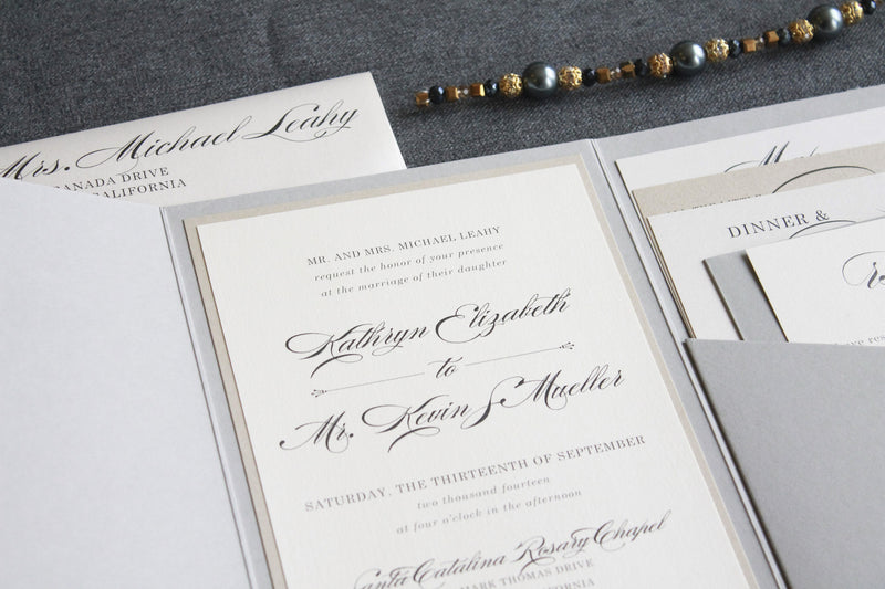 Calligraphy Wedding Menu | Sophia