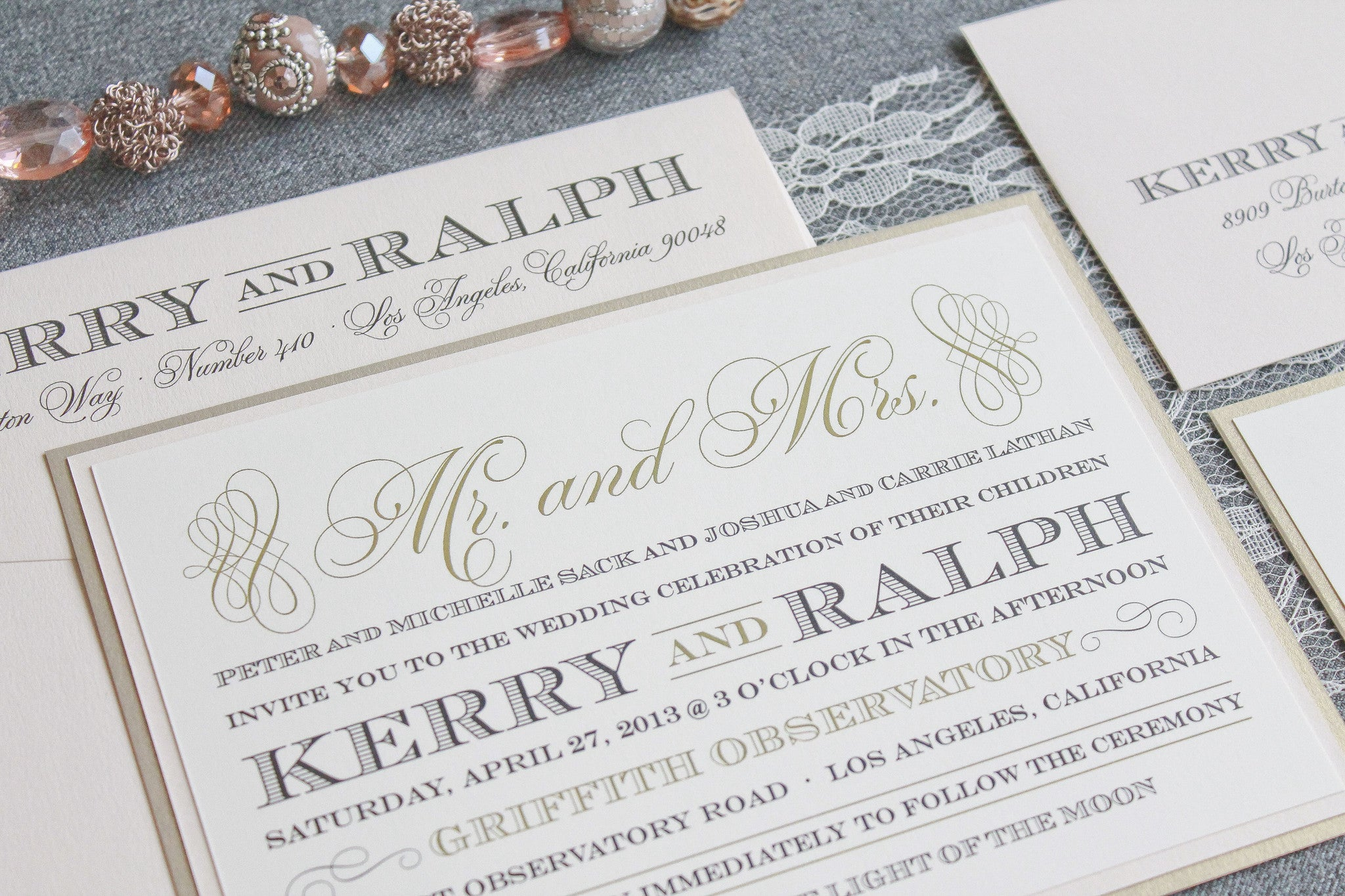 Kerry and Ralph Blush/Chapagne – Invited by LamaWorks