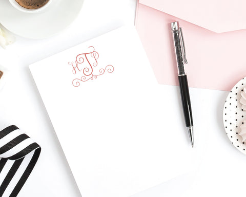 Swirly Monogram Notepad