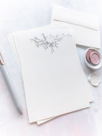Elegant Pencil Drawn Laurel Letter Writing Set