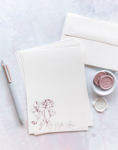 Fall Flowers Letter Writing Kit - Tracie