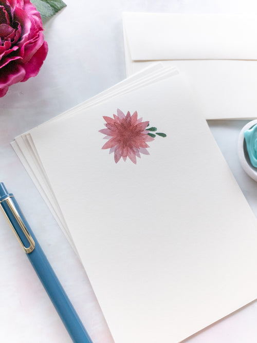 Pink Dahlia Letter Writing Set