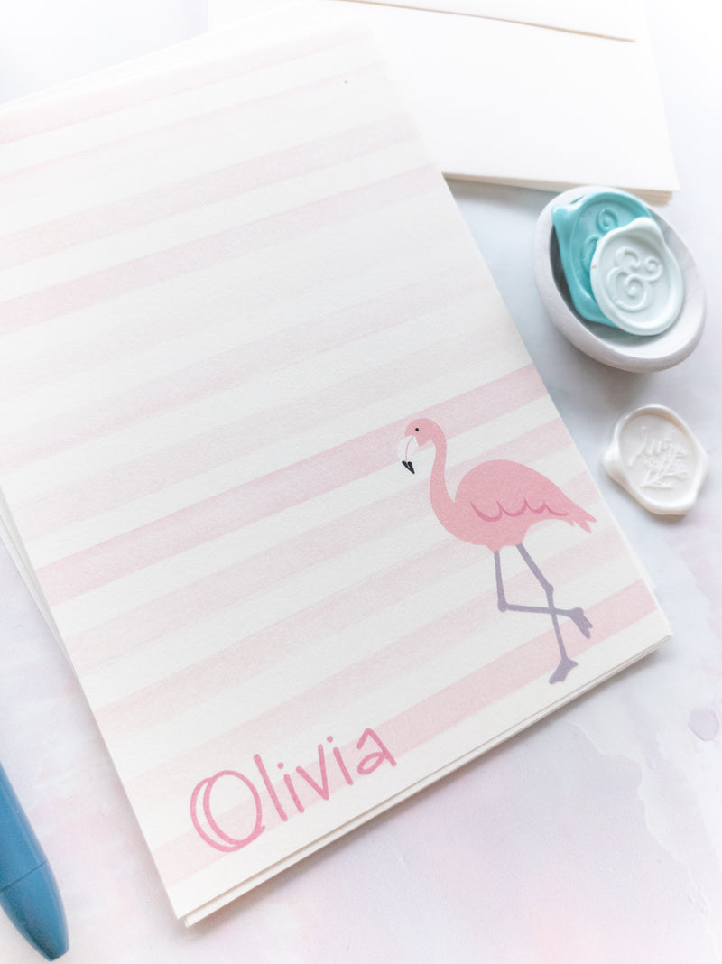 Pink Flamingo Letter Writing Kit
