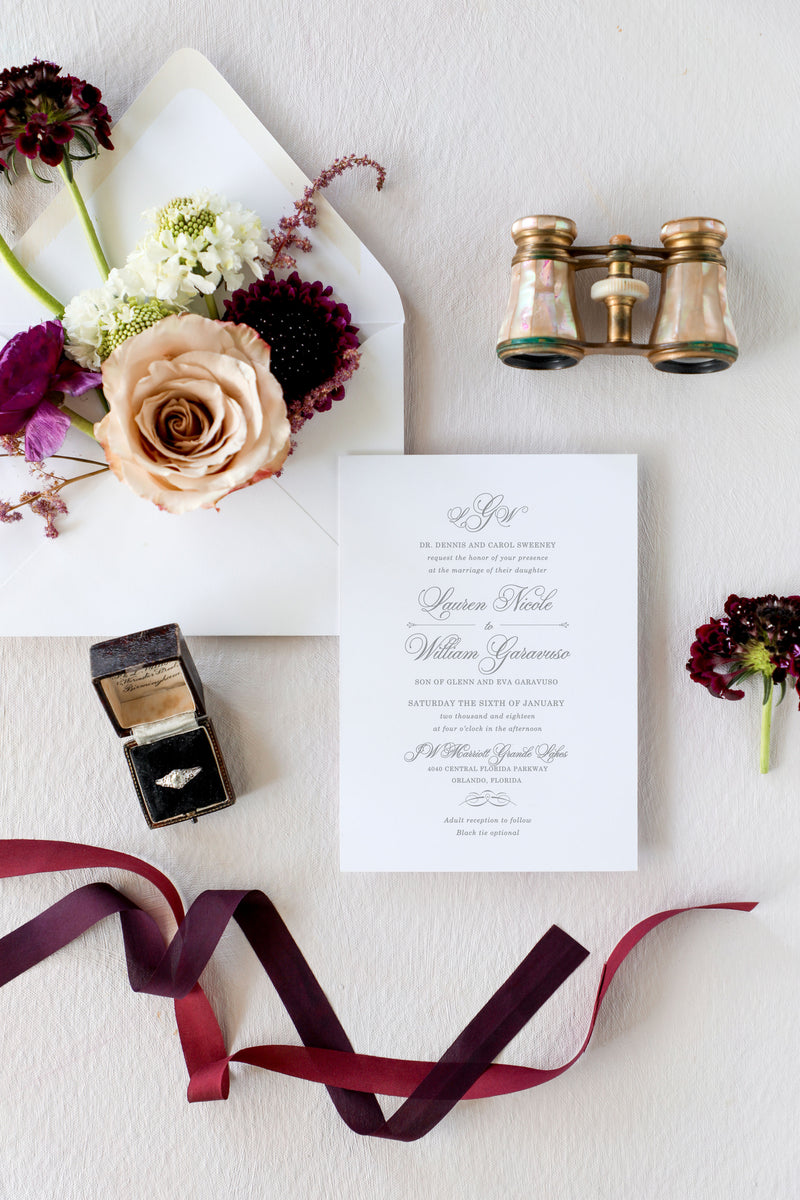 Pretty Pink Floral Invitations - Laura