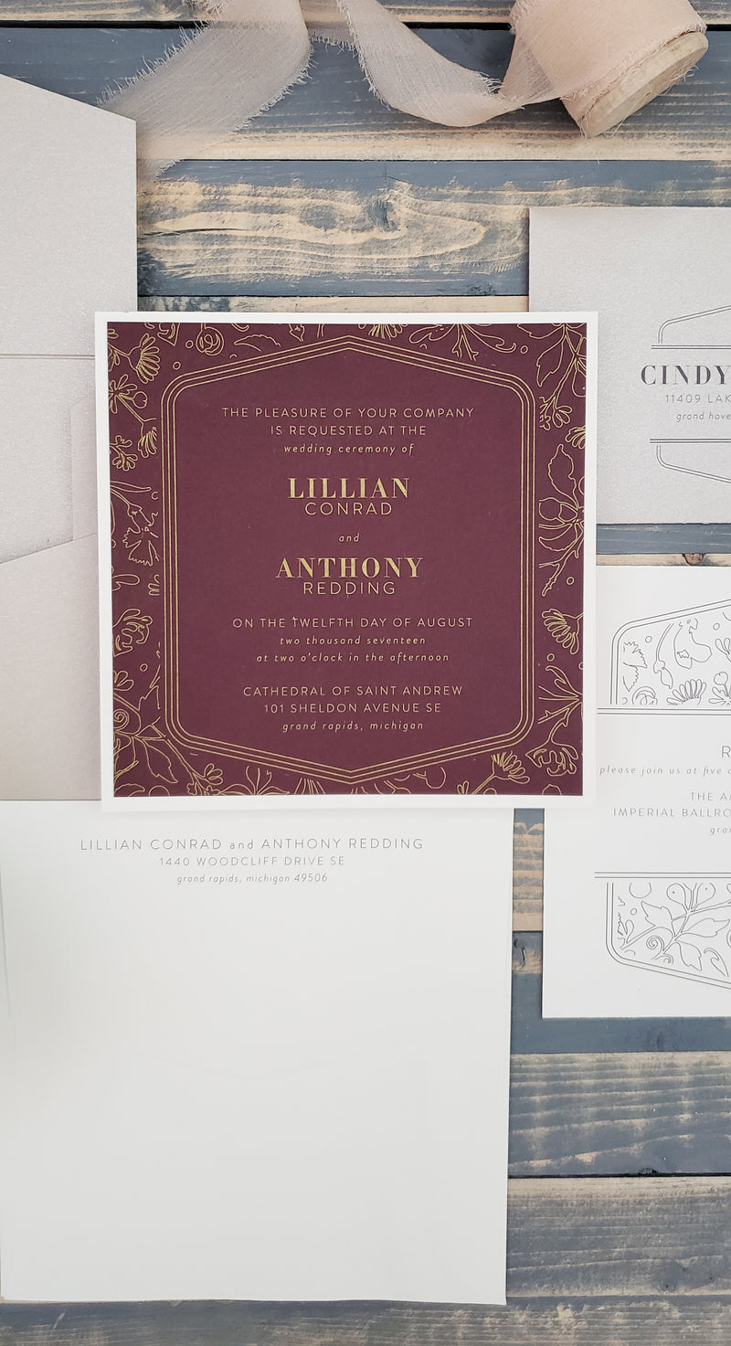 Lillian and Anthony - Gold Ink