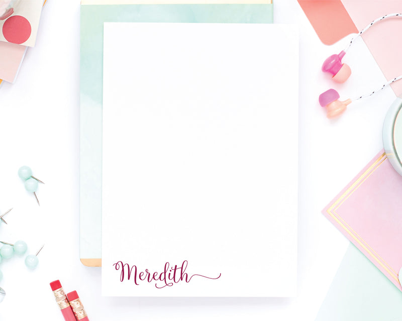 Personalized Notepad - Meredith
