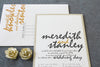 Meredith and Stanley - Pocket Invitation