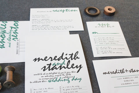 Meredith and Stanley - Flat Invitation