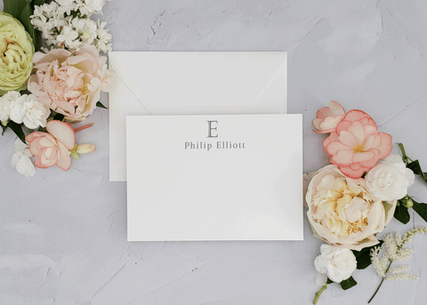 Modern Masculine Monogram Stationery Set - Philip