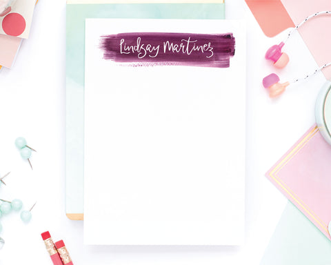 Cute Paint Swash Notepad - Lindsay