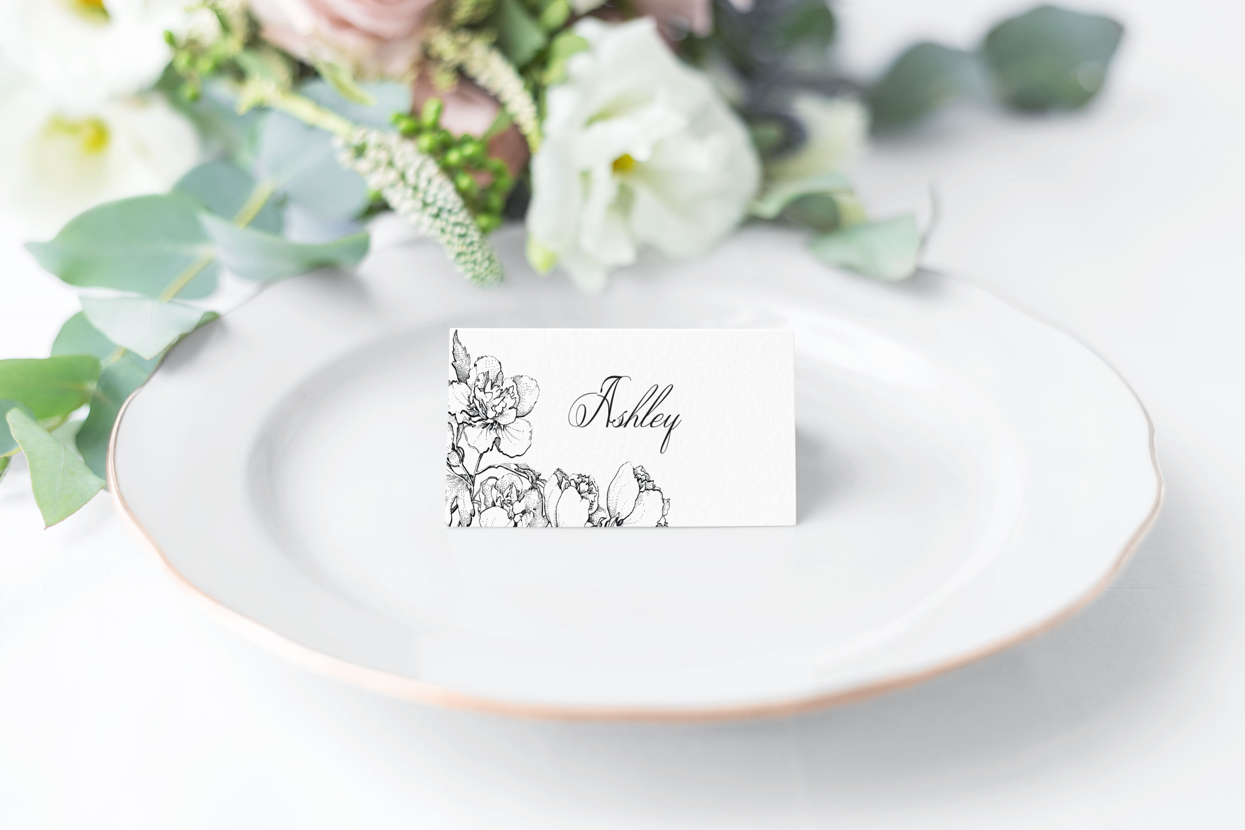 Ashley Escort Card Place Card Invited By Lamaworks