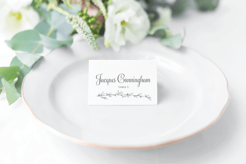 Greenery Branch Place Cards - Kaitlin