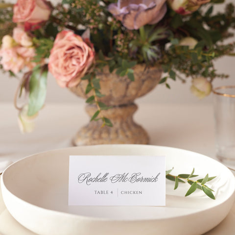 Rochelle and Clifton Place Card