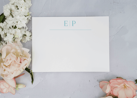 Modern Minimalist Monogram Stationery Set - Sarah
