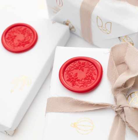 Poinsettia Wax Seal