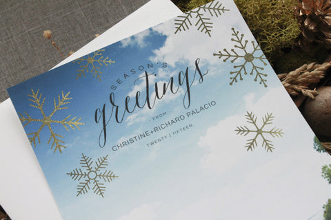 Seasons Greetings Glitter Snowflakes