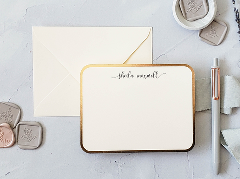 foil personal stationery set